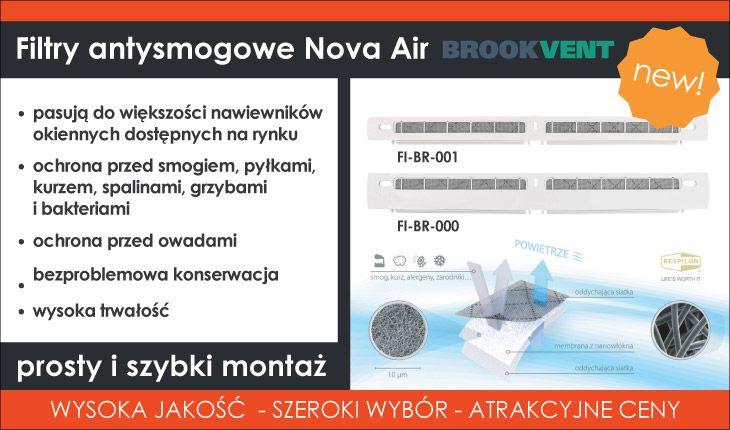 Filtry antysmogowe Nova Air