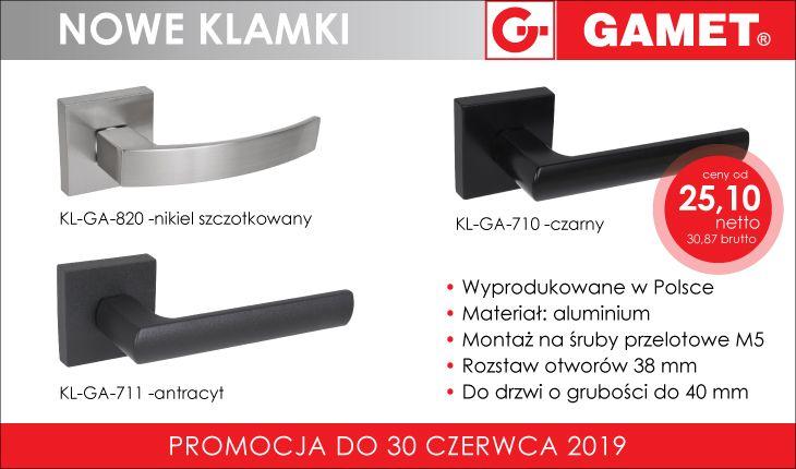 Klamki Gamet-nowe