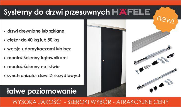 systemy przesuwne Hafele