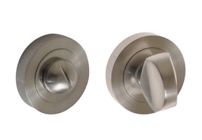 Szyld okrągły WC nikiel satyna (ROXA)
