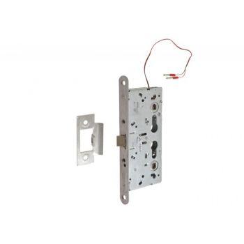 Zamek antypaniczny, elektryczny z jednostronną kontrolą dostępu TESA CF60 72/65 12/24VDC, tryb pracy NC (ewakuacja po stronie przeciwzawiasowej)