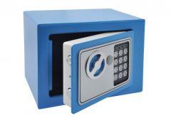 Sejf Home z zamkiem elektronicznym (230x170x170 mm), niebieski