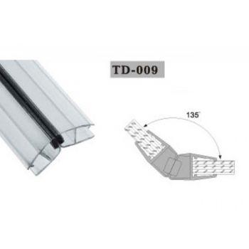 Uszczelka magnetyczna do kabin prysznicowych TD-009 8 mm 2,2 mb(US-HR-012)