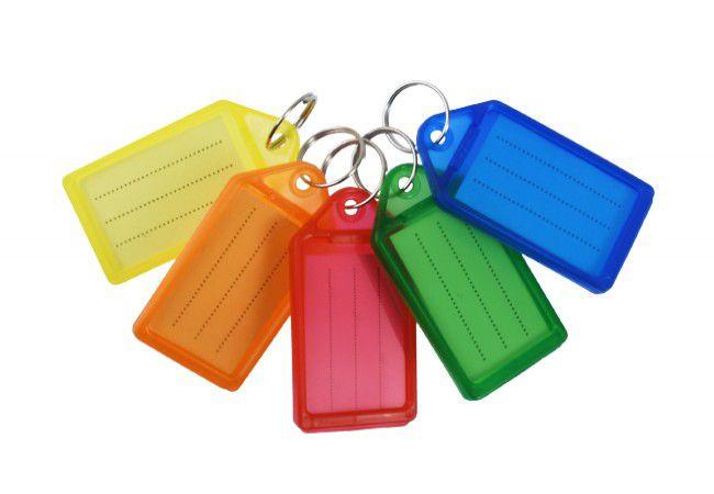 Identyfikator plastikowy do kluczy (28x46x7 mm), mix kolorów (50szt.)