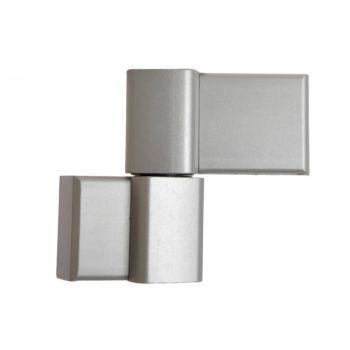 Zawiasa DR HAHN  60AT 20x62,5 , 2 skrzydełkowy alu srebrny