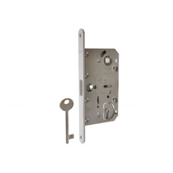 Zamek magnetyczny MEDIANA POLARIS (AGB)90/50 czoło 18 klucz chrom mat. bez zaczepu regulowanego.