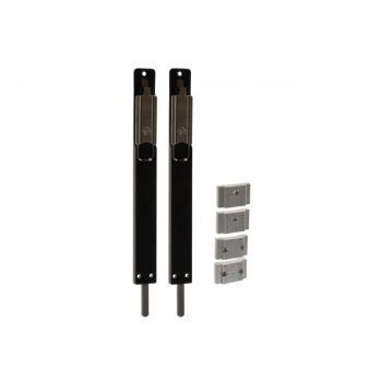 Rygiel drzwiowy nawierzchniowy/dowrębowy  MASTER czarny dł=220 mm szer=23 mm gr=8 mm (góra i dół)