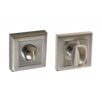 Szyld kwadratowy WC nikiel-satyna /chrom ( LARGO, HELEN, COROLLA)(kpl)