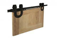 Zestaw okuć do drzwi przesuwnych Design Line TEMIDA, kolor czarny (prowadnica L-2000 mm, drzwi 850-1050 mm / 35-45 mm)