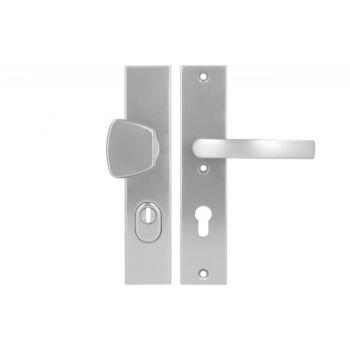 Pochwyt-klamka Axa ODIN 72 WB klasa 3 z zabezpieczeniem wkładki FLEX (p.poż.), kolor  F6 (gr.drzwi 74-83 mm)