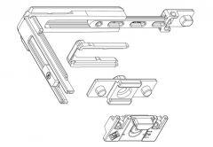 Narożnik dodatkowy Master+ punkt ryglowania z regulowanym zaczepem, do okien aluminiowych