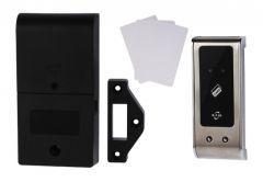 Zamek elektroniczny KM-60 na karty zbliżenowe (Mifare 13,56 MHz) do szafek, panel ze stali nierdzewnej