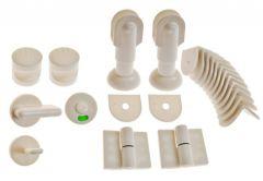 Zabudowa toalet  WC biała lewa    KPL gr.płyty 12-18mm materiał polipropylen