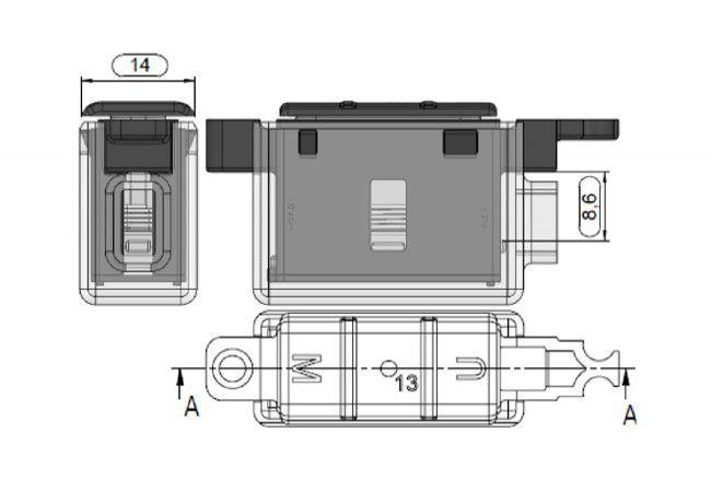 Element magnetyczny 13 UMV AV3 do zaczepu FRA, do zasuwnicy Winkhaus z automatyczn zym ryglowaniem