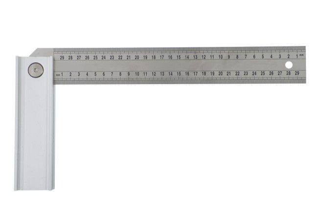 """Kątomierz regulowany z blokadą na 45"""", 90"""", 135"""" rozmiar 300 mm"""