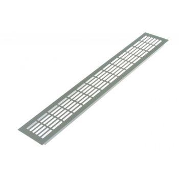 Kratka wentylacyjna duża 480 x 80 mm, przepuszczalność powietrza 232 m3/h dla +/- 10Pa