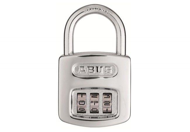 Kłódka ABUS szyfrowa (kod 3 cyfrowy), chrom