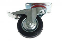 Kółko CKPW-SG   80W-HC skrętne z hamulcem z cz. gumą (nośność do 50)