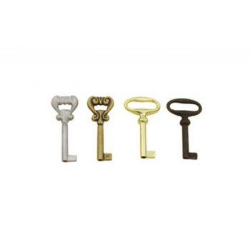 Klucz meblowy KL02-G05 gładki st/złoto