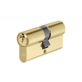 Wkładka bębenkowa Abus E45MM 30/30 mosiądz satyna, na blistrze, kl.A, 3 klucze nacinane