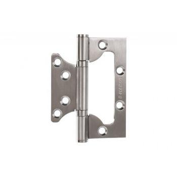 Zawias szczelinowy do drzwi bezprzylgowych, zaokrąglony 100x76,6x2,5 mm stal nierdzewna SUS202