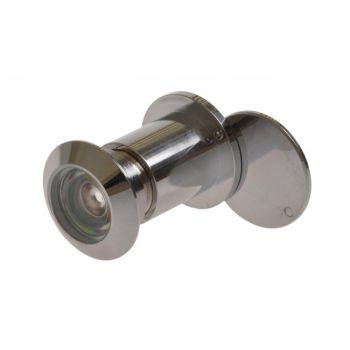 Wizjer drzwiowy fi 27 65-90 mm chrom kąt widzenia 180 stopni