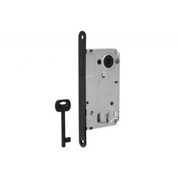 Zamek BONAITI B-TWIN wpuszczany magnetyczny 90/50 BB-klucz czarny