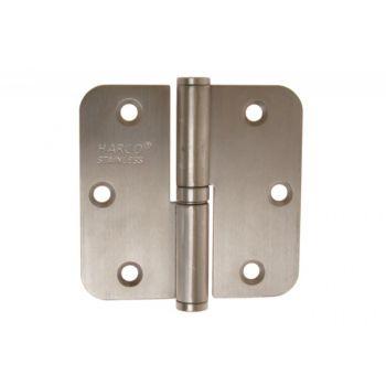Zawiasa wierzchnia łożyskowana HR DR 80x80x2,5mm stal nierdzewna SUS 202,prawa