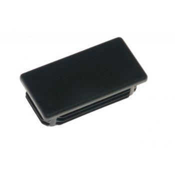 Zaslepka prostokątna ZP 20x60 czarna