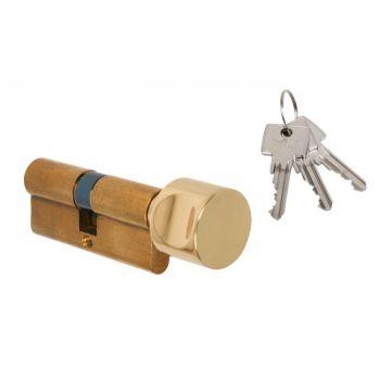 Wkładka bębenkowa DORMA DEC 160 40G/40, z gałką okrągłą mosiądz,  3 klucze