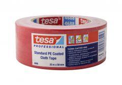 Taśma naprawcza Tesa tkaniowa 260 Gaffer, czerwona długość 25 m, szerokość 50 mm (04688-00046-00)