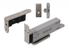 Zawias JNF wpuszczany typu pivot z samodomykaczem do drzwi drewnianych dwukierunkowych (35-45mm, do 900 mm, do 100 kg)