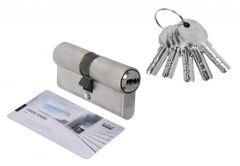 Wkładka bębenkowa DORMA DEC 260 30/80, nikiel,  5 kluczy, (atest kl. 5.1 B)