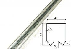Szyna nośna G10Z (200/650kg) skośna fi-44