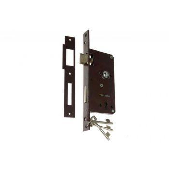 Zamek wpuszczany bramowy 90/63,5 n/klucz lakier lewy