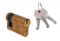 Wkładka bębenkowa DORMA DEC 160 10/30, mosiądz 3 klucze