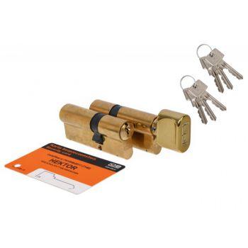 Kpl. wkładek HEKTOR 35g/45+35/45 mosiądz kl.B 6 kluczy