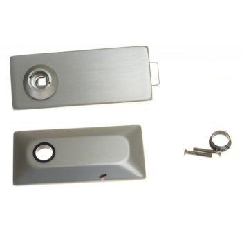 Zamek podklamkowy GEZE UV - STUDIO PRIVATE LINE do drzwi szklanych, anoda naturalna (EV1) - płaski