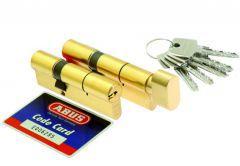 Kpl.wkładek Abus D10+KD10MM 35/45 + 45g/35 mosiądz kl 5.2 kluczy