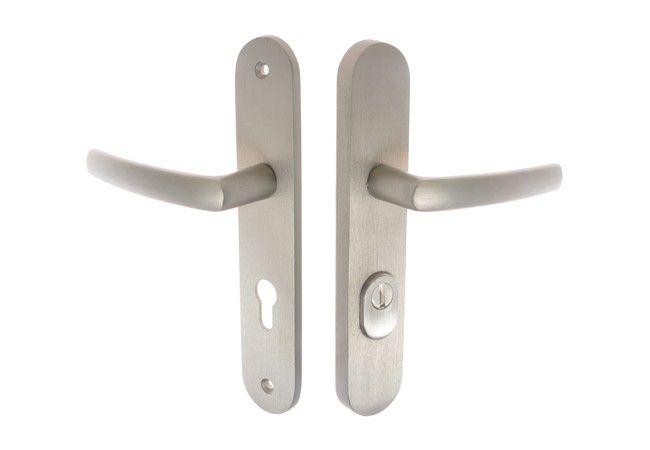 Klamka drzwiowa FOX 72 wkładka A/V chrom sat.
