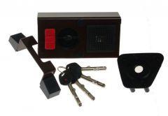 Zamek Gerda TYTAN ZE-1 ZL brąz z elem. mocującymi,  4 klucze, atest kl. C,( do lewych drzwi otwieranych na zewnątrz)
