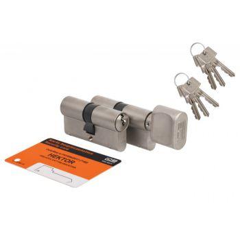 Kpl. wkładek HEKTOR 40g/45+40/45 nikiel kl.B 6 kluczy