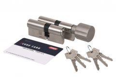 Komplet wkładek ABUS S6 (55/40+55G/40) nikiel, 6 kluczy, klasa 6D
