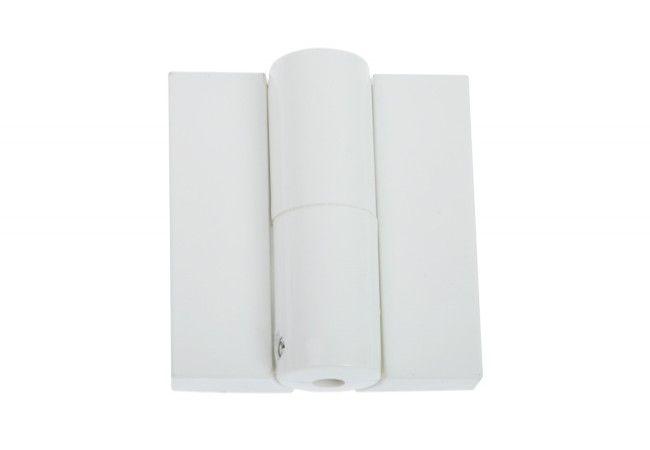 Zawias łazienkowy sprężynowy z regulacją naciągu 24/28 DL 15 j. biały LEWY