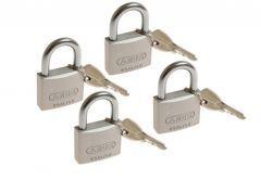4 Kłódki Abus titalium 40 mm na jeden klucz, 5 kluczy w kpl