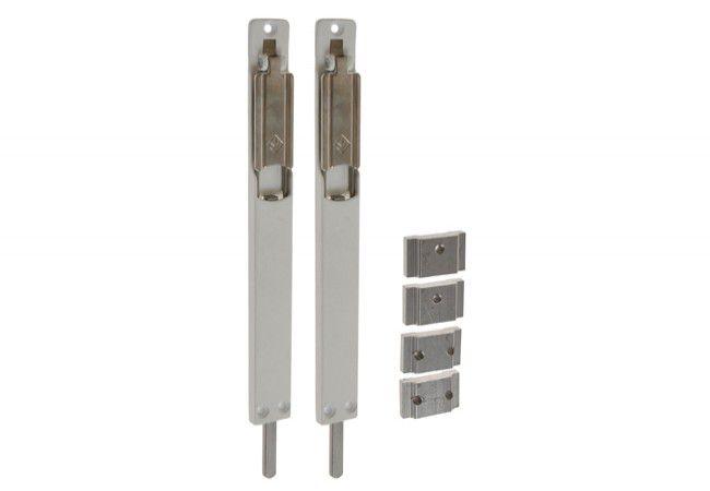 Rygiel drzwiowy nawierzchniowy/dowrębowy MASTER biały dł=220 mm szer=23 mm gr=8 mm (góra i dół)