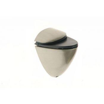 Podpórka półki szklanej 40 nikiel  /satyna  (50x30, gr.szyby do 16 mm)