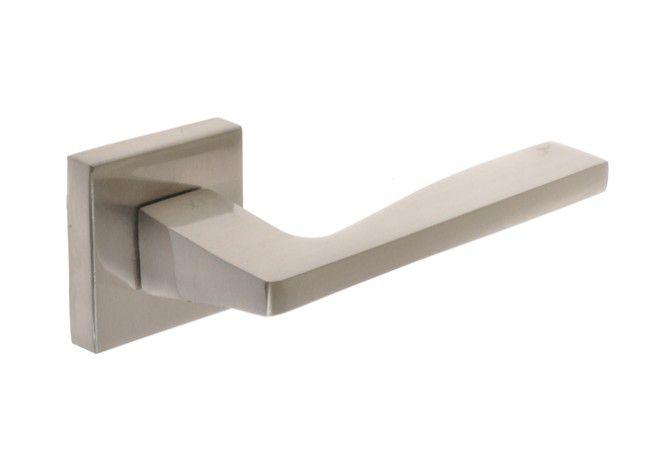 Klamka drzwiowa INFINITY ALEX z/t kwadratową satyna