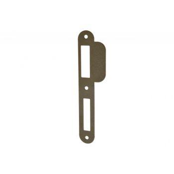 Zaczep WILKA 9047/1026223 płaski 24x170x3 do drzwi bezprzylgowych nikiel lewy