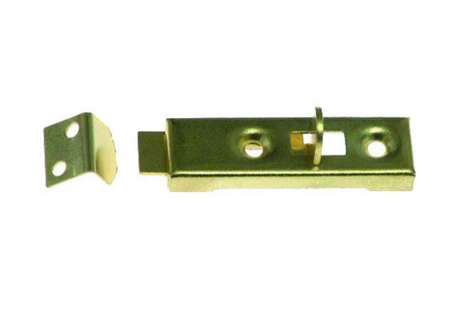 Zasuwka meblowa 5cm (50x15 mm) mosiądz